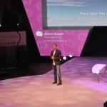 Albert Bosch, en un momento de su charla