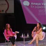 María Gómez del Pozuelo con Amaya Valdemoro