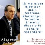 La frase de Alberto Calvo