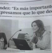 MARINA FERNÁNDEZ EN EL FORO DEL PERIÓDICO LA REGION