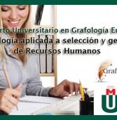 CURSO GRAFOLOGÍA PARA PROFESIONALES DE RRHH