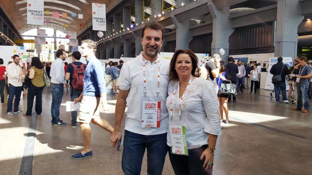 Cristina Álvarez con Fernando Cabello Astolfi CEO de Aplázame