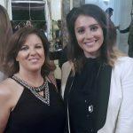 Cristina Álvarez y Marina Estacio en la recepción en la Embajada Argentina