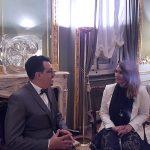 Marina Estacio conversa con Juan Domingo Palermo