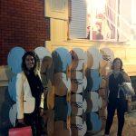 Marina Estacio y Cristina Álvarez en la Embajada de Argentina en España