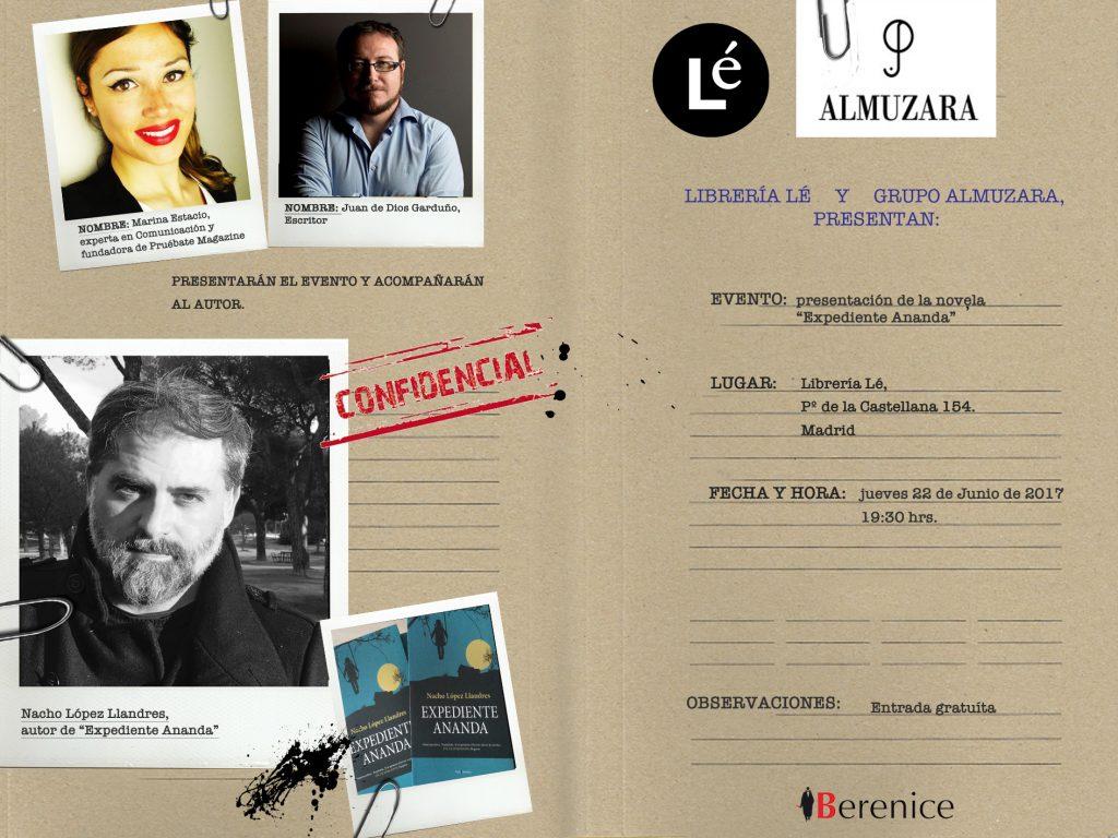 Expediente Ananda, Nacho López Llandres y Marina Estacio